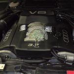 Audi A8 D2 3.7 V8 with autogas lpg injectors neatly mounted Magic