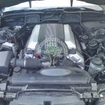 BMW 740i E38 engine bay after lpg conversion