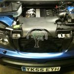 BMW x5 3.0 engine bay after lpg autogas conversion