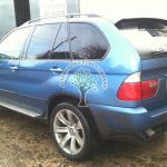 BMW x5 3.0 getting filled up with propane gas with hidden filling point