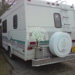 Chevrolet winnebego motorhome converted to lpg auotgas tank at rear