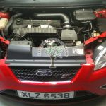 Ford Focus ST 2.5 st3 lpg autogas conversion engine bay with propane injectors