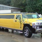 Hummer H2 Limo refuelling with lpg at autogas station in Northern Ireland