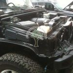 Hummer H2 during lpg conversion, proffesional autogas installations Northern Ireland