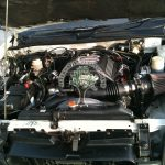 Isuzu V cross vehi cross engine bay after lpg conversion GM 3.5 engine