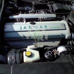 Jaguar XJ 3.2L engine bay after professional autogas installation