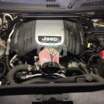 Jeep Commander 5.7 Hemi engine bay after LPG conversion optional Cone filter