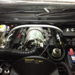 Jeep Grand Cherokee 6.1 srt8 engine bay after conversion no loss in power