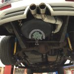 Jeep Grand Cherokee 6.1 srt8 with irene autogas tank in place and exhaust rerouted