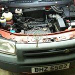 Land Rover Freelander 1.8 engine bay after installation of lpg injection AFC G3 system