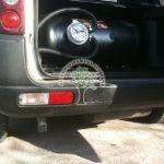 Land Rover Freelander KV6 tank and autogas filler point on bracket below rear bumper