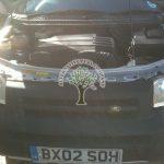 Land Rover Freelander v6 engine bay after autogas system installation conversion