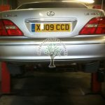 Lexus LS430 being converted and autogas filler mounted