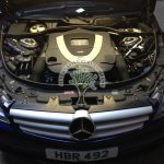 Mercedes CL500 C216 engine bay after lpg conversion