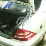Mercedes W203 C240 V6 Mounting autogas filling point in the rear wing and toroidial donut tank