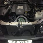 Mercedes e240 V6 w210 engine bay after lpg conversion