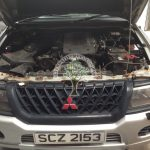 Mitsubishi Shogun 3.0 engine bay after lpg autogas conversion in Northern Ireland
