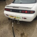 Nissan 200 sx s14 Turbo being filled up with autogas lpg