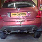 Nissan Murano 3.5 during Conversion installation of LPG filler
