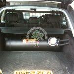 Porsche Cayenne 3.2 Autogas cylinder lpg tank mounted in boot irene stako gzwm
