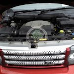 Range Rover Sport Supercharged 4.2 engine bay after proffesjonal LPG conversion