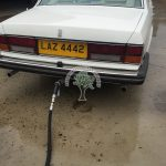 Rolls Royce Silver Spirit 6.75 being filled up with lpg autogas after conversion