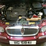 Rover 75 2.5 v6 engine bay after lpg autogas conversion