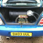 Subaru Impreza WRX STI 2.5 Turbo with bigger lpg tank installed inthe boot