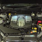 Subaru Legacy 3.0 H6 under bonnet view after conversion