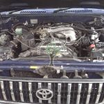 Toyota Land Cruiser Colorado 3.4 V6 engine bay with lpg components in place