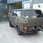 Volkswagen transporter autogas hidden filler being filled up with lpg in Northern Ireland