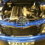 audi s2 2.3 20v turbo engine bay autogas installation in place