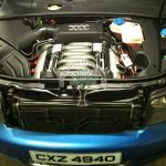 audi s4 4.2 engine bay after cnversion