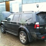 mitsubishi shogun 3.0 sport filling up with lpg at autogas station in Northern Ireland