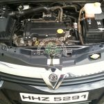 Vauxhall Astra 1.4 enigne bay view after installation visible injectors magic, hana, prins, brc, omvl, stag,